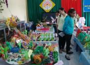 Một số hình ảnh trường mầm non Bình Minh tổ chức thi ĐDĐC tự làm cấp trường